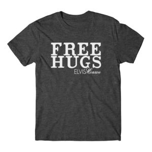FREE HUGS - S/S PREMIUM TEE - CHARCOAL HEATHER Thumbnail