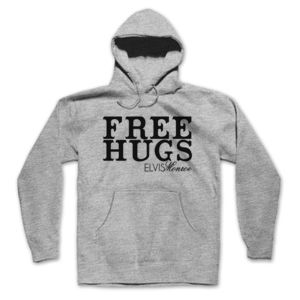 FREE HUGS - PREMIUM PULLOVER HOODIE - LIGHT GRAY HEATHER Thumbnail