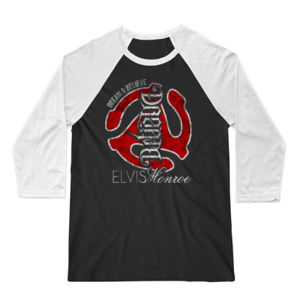 DREAM BELIEVE OLD SCHOOL RED - UNISEX PREMIUM 3/4 SLEEVE BASEBALL TEE - BLACK/WHITE Thumbnail
