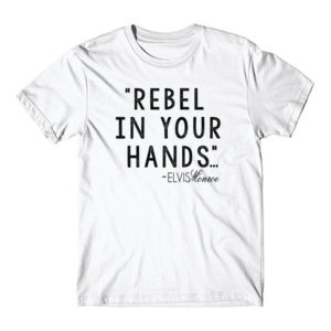 REBEL IN YOUR HANDS - Premium S/S T-shirt - White Thumbnail