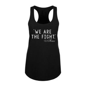 WE ARE THE FIGHT - Women's Racerback Tank Top - Black Thumbnail