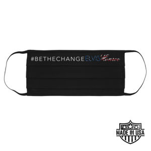 #BETHECHANGE - PREMIUM UNISEX FACE COVERING - BLACK Thumbnail
